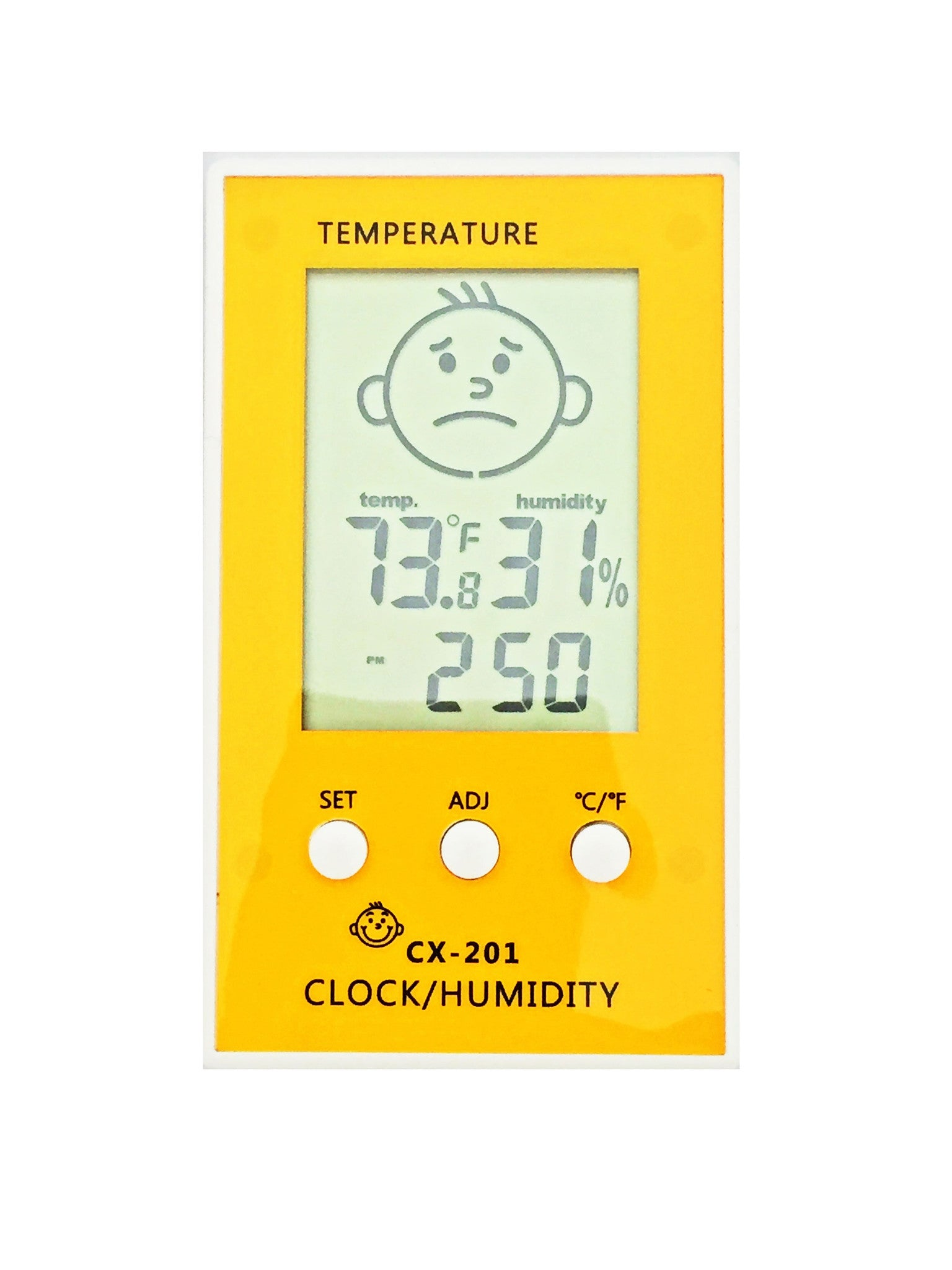baby room hygrometer humidity level humidifier tangerine yellow