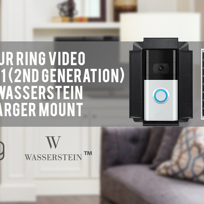 Power Your Ring Video Doorbell 1 (2nd Generation, 2020 Release) with the Wasserstein Solar Charger Mount