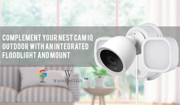 Complement Your Nest Cam IQ Outdoor with an Integrated Floodlight and Mount