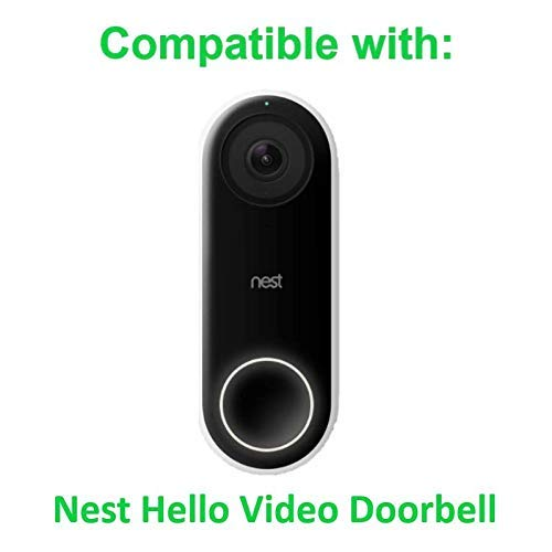 Wasserstein Protective Silicone Skin compatible with Nest Hello Video Doorbell (White, 1 Pack)