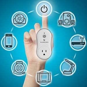 Smart Home Smart Plug by Wasserstein Compatible with Alexa for your Smart Home, Wi-fi control all your Devices Wherever You Are
