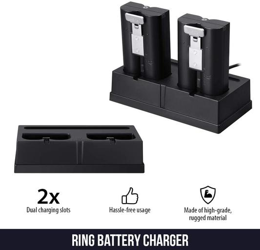 Ring Spotlight Cam Battery with Battery Charging Station Bundle