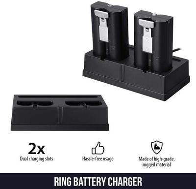 Ring Spotlight Cam Battery & Ring Video Doorbell 3 Satin Nickel bundled with Battery Charging Station - Brand New