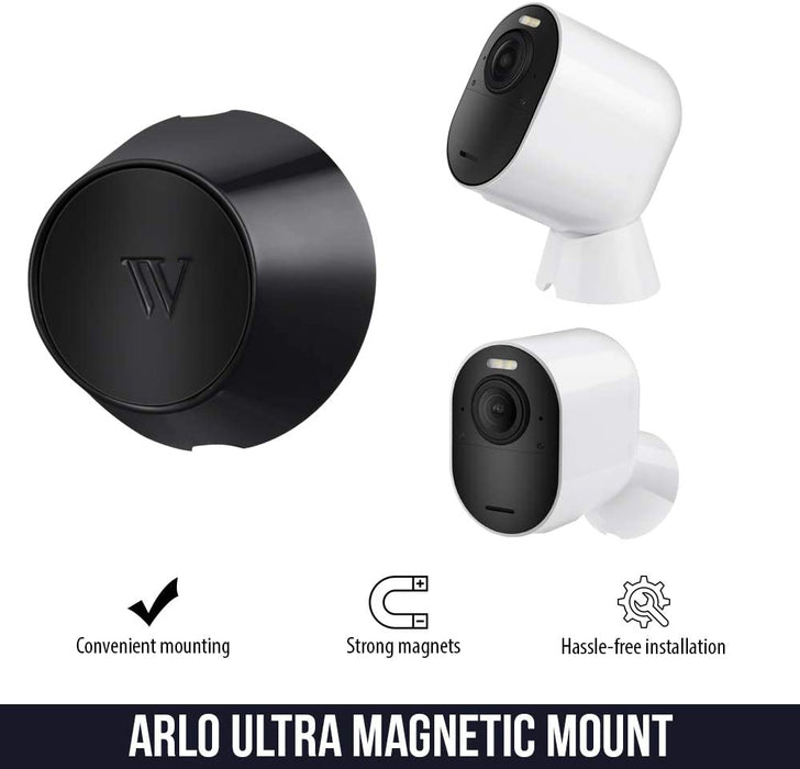 Wasserstein Indoor/Outdoor Magnetic Wall Mount Compatible with Arlo Ultra - Extra Flexibility for Your Arlo Ultra Camera