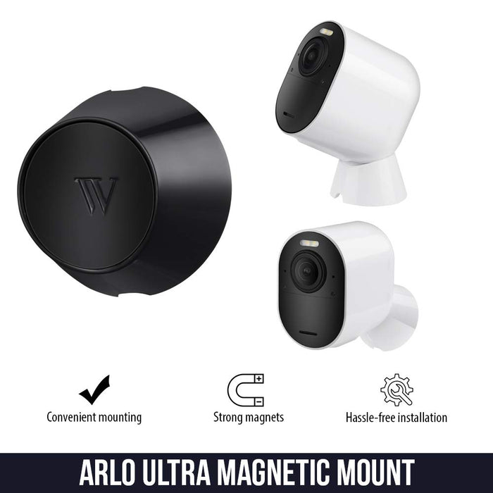 Wasserstein Indoor/Outdoor Magnetic Wall Mount Compatible with Arlo Ultra (White)