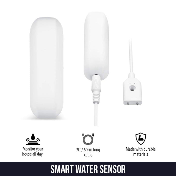 Smart Wi-Fi Water Sensor with 2ft/60cm Cable | Wasserstein Home