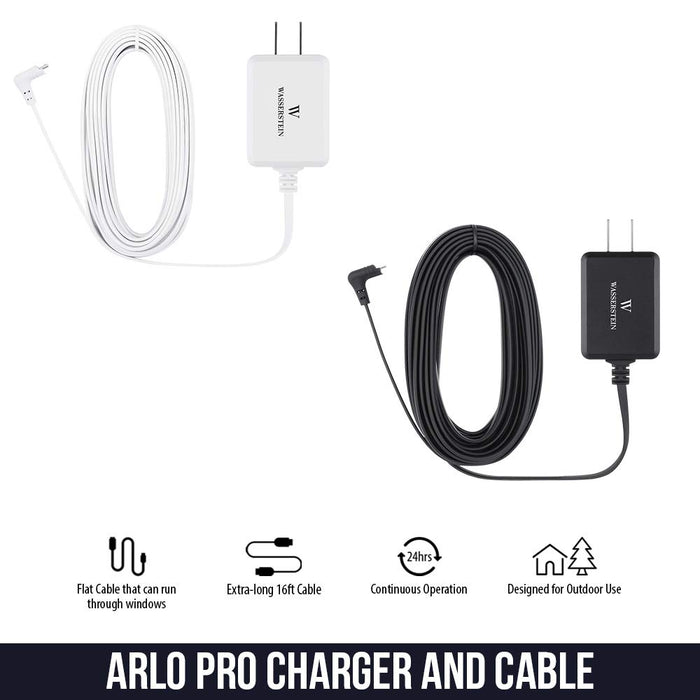 Arlo Pro 1 2 Camera Outdoor Power Supply Cable Weatherproof Micro USB Cord 16ft