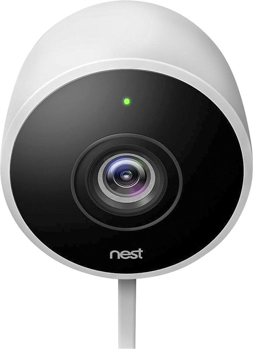 Google Nest Cam Outdoor 1080p Wi-Fi Network Security Camera System (2-Pack) - White