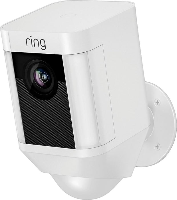 Ring Video Doorbell 3 and Ring Spotlight Cam Battery with Solar Panel Bundle