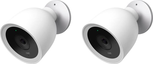 Google Nest Cam IQ Outdoor 1080p Wi-Fi Network Security Camera System (2-Pack) - White
