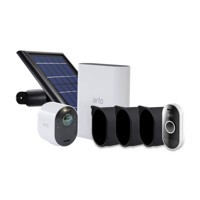 Arlo Ultra 1-pack Cam Kit with Solar Panel, 3-pack Protective Skins & Arlo Audio Doorbell