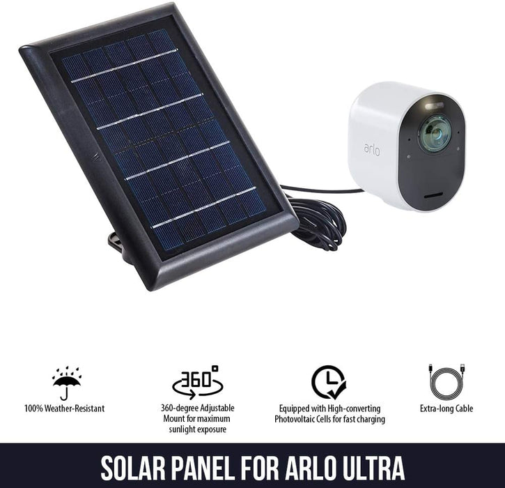 Arlo Ultra Solar Panel with 13.1ft/4m Outdoor Magnetic Charging Cable