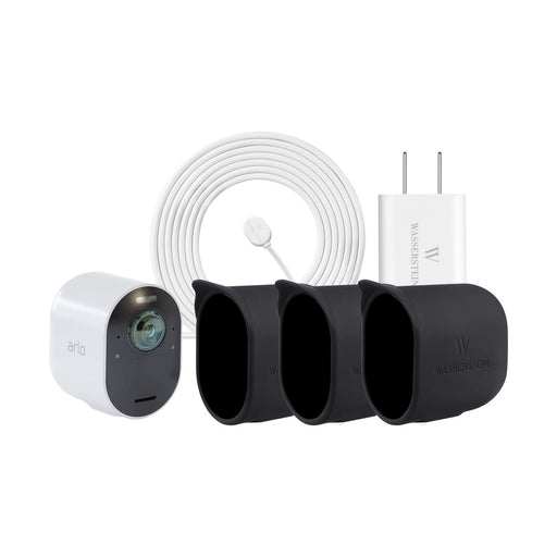 Arlo Ultra Add-on Cam (VMC5040) with Charging Cable Adapter & Silicone Skin | Wasserstein Home