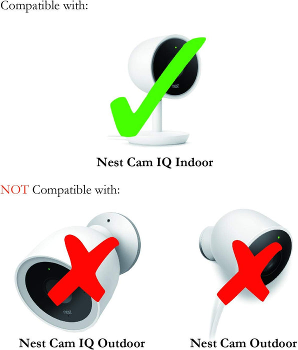 Wall Mount for Google Nest Cam IQ Indoor – Mount the Camera onto Any Metallic Surface (2 Pack, White)