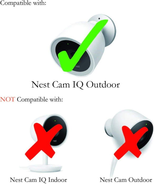 Wasserstein - Google Nest Cam IQ Outdoor Skin - Colorful Silicone Skins