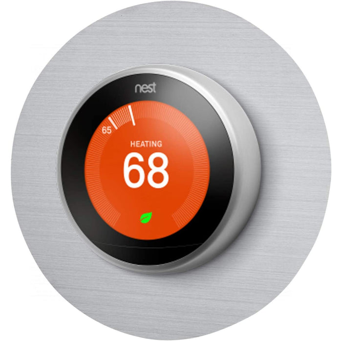 "Wasserstein Beautiful Round 6"" Wall Plate Cover Compatible with Google Nest 2nd and 3rd Generation Thermostat"