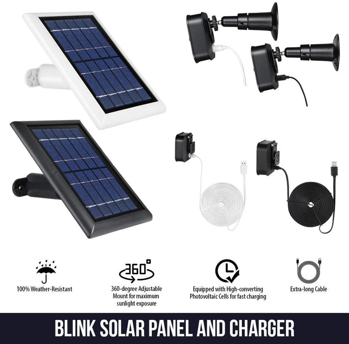 Blink XT & Blink XT2 Solar Panel with 2-Pack Power Cable