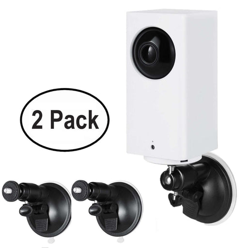 Wasserstein Versatile Suction Cup Mount with Universal Screw Compatible with Wyze Cam Pan - Extra Flexibility for Your Wyze Cam Pan (2-Pack) | Wasserstein Home