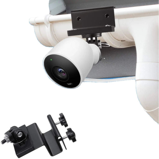 Wasserstein Weatherproof Gutter Mount Compatible with Nest Cam Outdoor with Magnetic Adapter