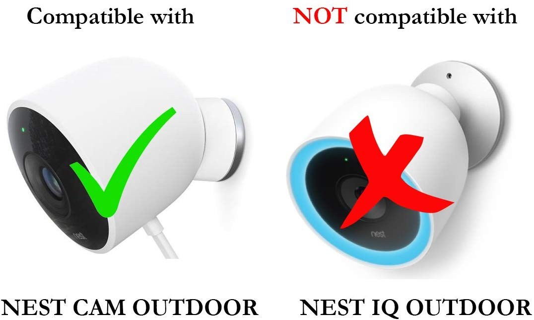 Colorful Silicone Skins for Google Nest Cam Outdoor Security Camera (2 Pack)