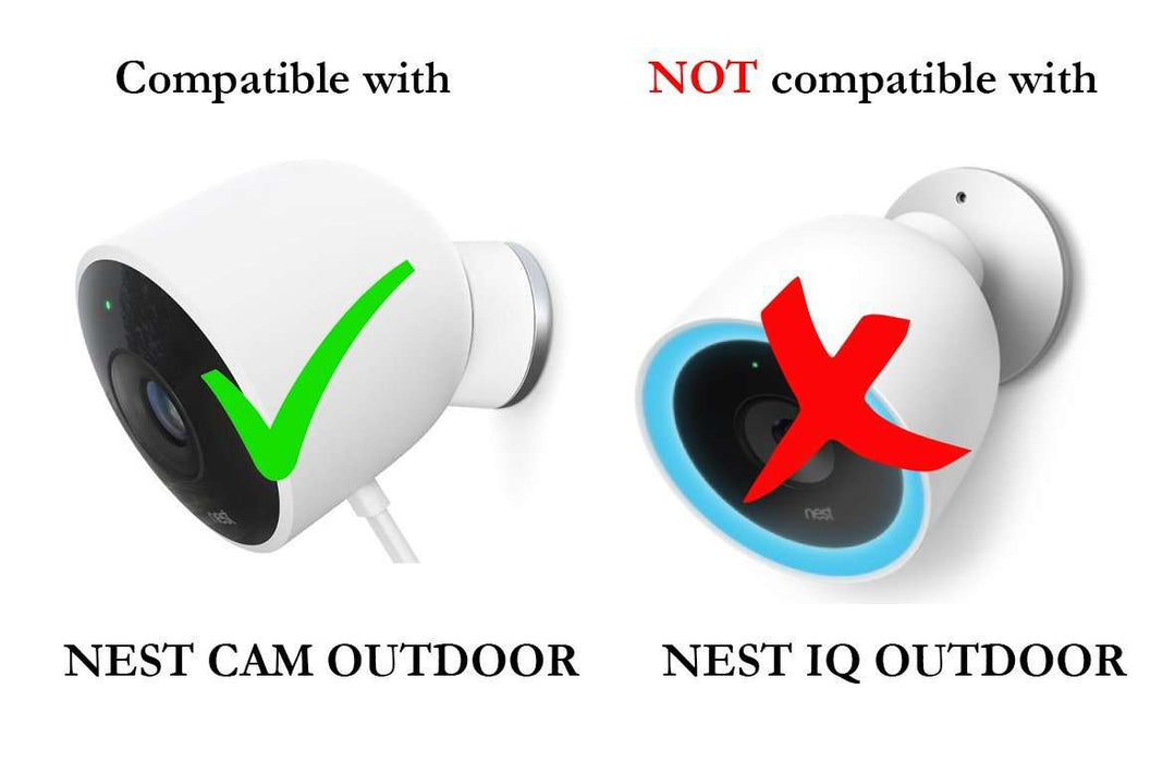 Wasserstein Versatile Aluminum Wall Mount with Integrated Protective Silicone Cover Compatible with Nest Cam Outdoor Now Mount Your Nest Cam Outdoor and Angle it whichever Way You Like