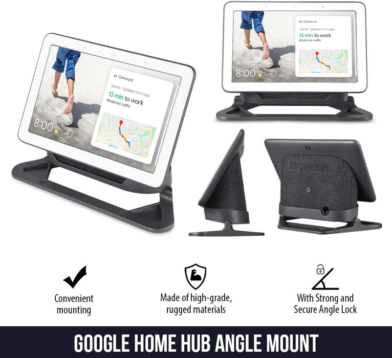 [Official Made for Google] Wasserstein Adjustable Stand Compatible with Google Nest Hub - Perfect Companion for Your Nest Hub