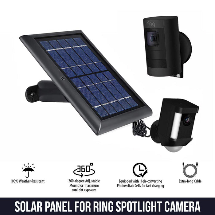 Wasserstein Ring Solar Panel for Spotlight and Stick Up Cam Battery