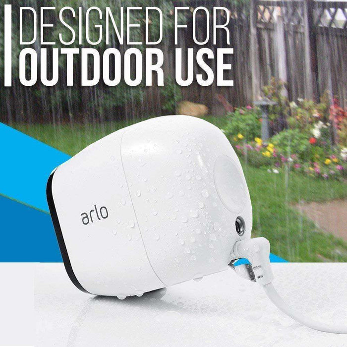 Arlo Pro 2 Add-on Camera (VMC4030P) Bundled with White Weatherproof Outdoor Quick Charger | Wasserstein Home