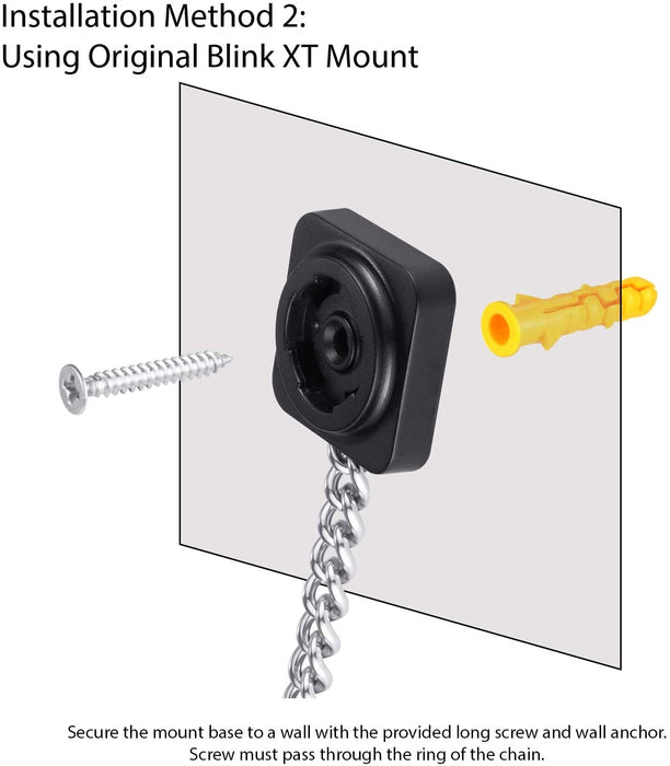 Wasserstein Anti-Theft Security Chain Compatible with Blink XT Outdoor Camera - Extra Security for Your Blink Camera (3 Pack, Black)