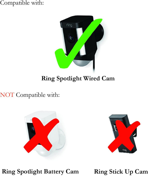 Colorful Silicone Skins for Ring Spotlight Wired Cam Security Camera – Protect and Camouflage your Ring Spotlight Wired Cam with these UV light