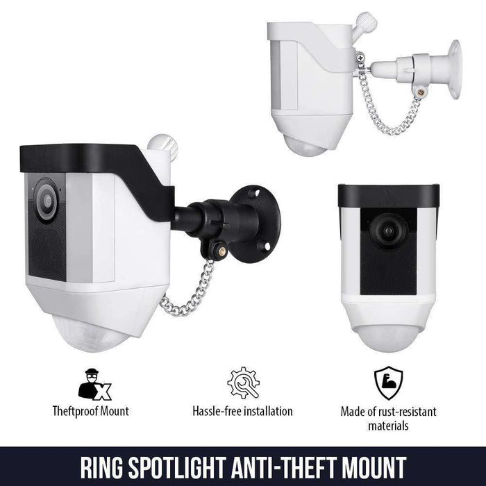 Anti-Theft Security Chain Compatible with Ring Spotlight Cam Battery - Extra Security for Your Ring Camera | Wasserstein Home