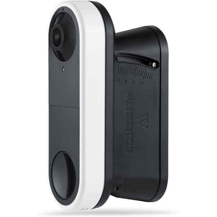 Wasserstein 0° to 20° Vertical Wedge Wall Mount Compatible with Arlo Video Doorbell - Flexible Mounting Options for your Smart Doorbell