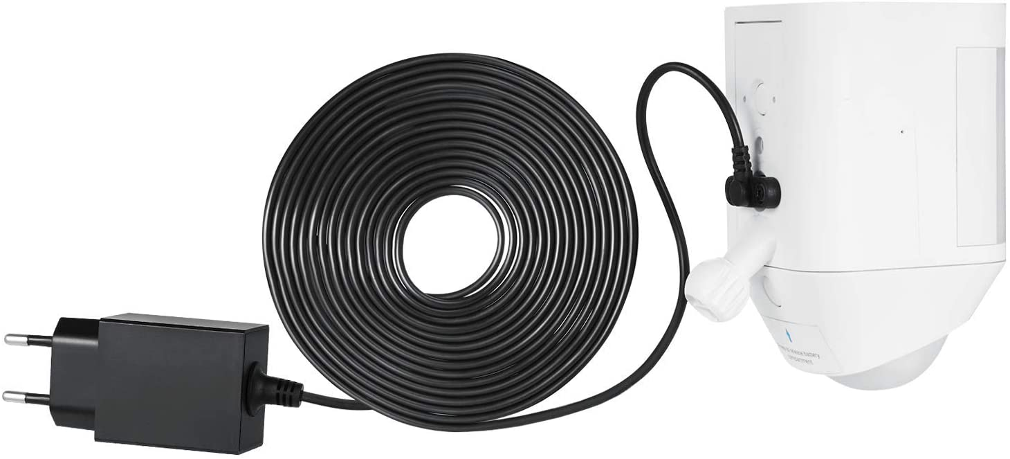 Wasserstein Weatherproof Integrated Charger for Ring Spotlight Cam Battery - 21ft Cable