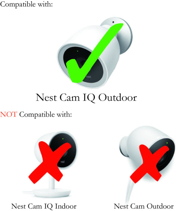 Wasserstein - Nest Cam IQ Outdoor Skin - Colorful Silicone Skins Compatible with Nest Cam IQ Outdoor Security Camera