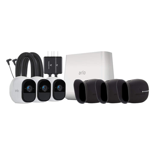 Arlo Pro 3-pack Cam Kit with Outdoor Quick Charger & 3-pack Protective Skins
