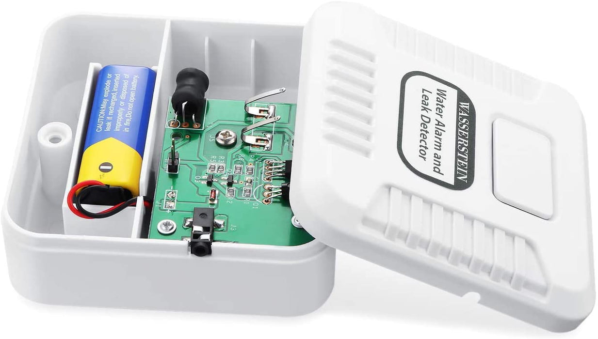 Water Alarm and Leak Detector with Sensor Probe and Sensor Cable bundled with Smart Wi-Fi Water Sensor, Flood and Leak Detector