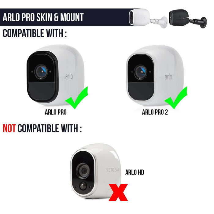 Security Metal Wall Mount & Silicone Skins for Arlo Pro (3-Pack) | Wasserstein Home