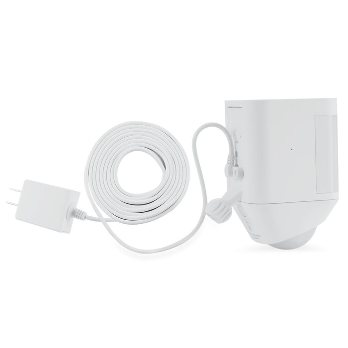 Weatherproof Integrated Charger for Ring Spotlight Cam Battery - Extra Long and Thin 21ft Cable