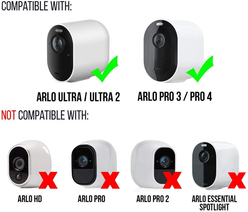 Protective and Theftproof Security Cover Compatible with Arlo Ultra/Ultra 2 & Arlo Pro3/Pro 4 - Security for Your Arlo Camera