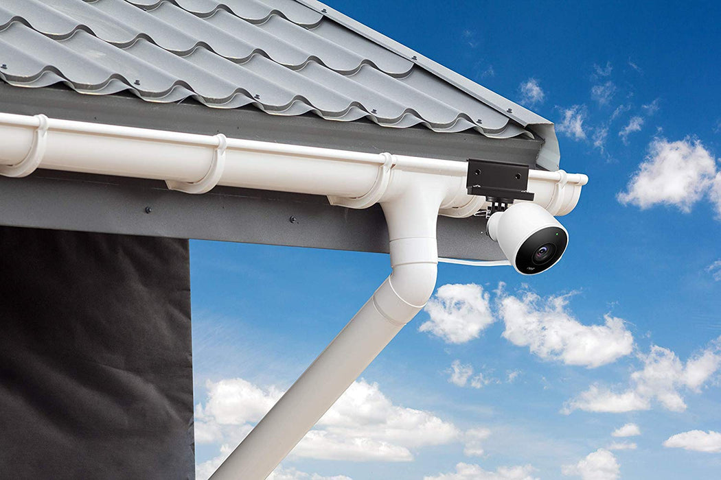 Wasserstein Weatherproof Gutter Mount Compatible with Nest Cam Outdoor with Magnetic Adapter - Better Placement for Bett