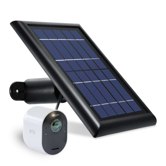 Arlo Ultra 1-Pack Camera Kit (VMS5140) Bundled with Black Solar Panel, 3-Pack Black Protective Silicone Skins with Sunroof and Arlo Audio Doorbell (AAD1001) | Wasserstein Home