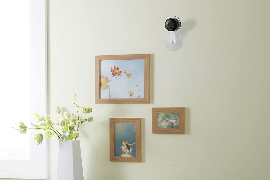 Wasserstein 2 in 1 Magnetic White Wall, Ceiling, Mount for Google Nest Cam Indoor– Place Your Camera Effortlessly onto Any Magnetic Surfaces