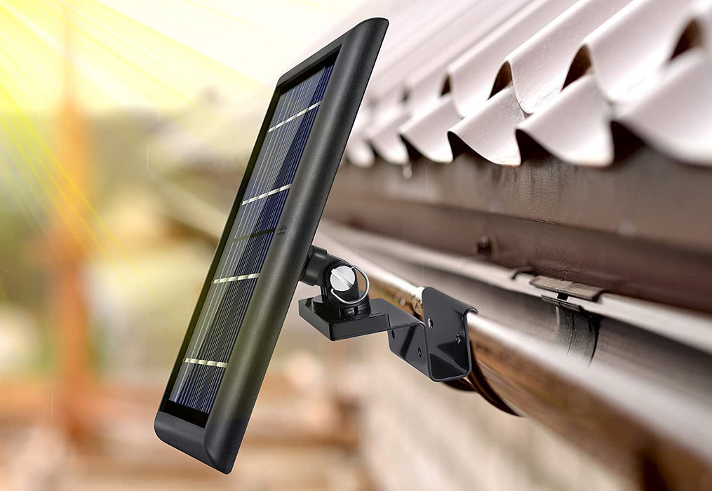 Wasserstein Gutter Mount Compatible with Ring, Arlo, Reolink Cams & Compatible Solar Panels