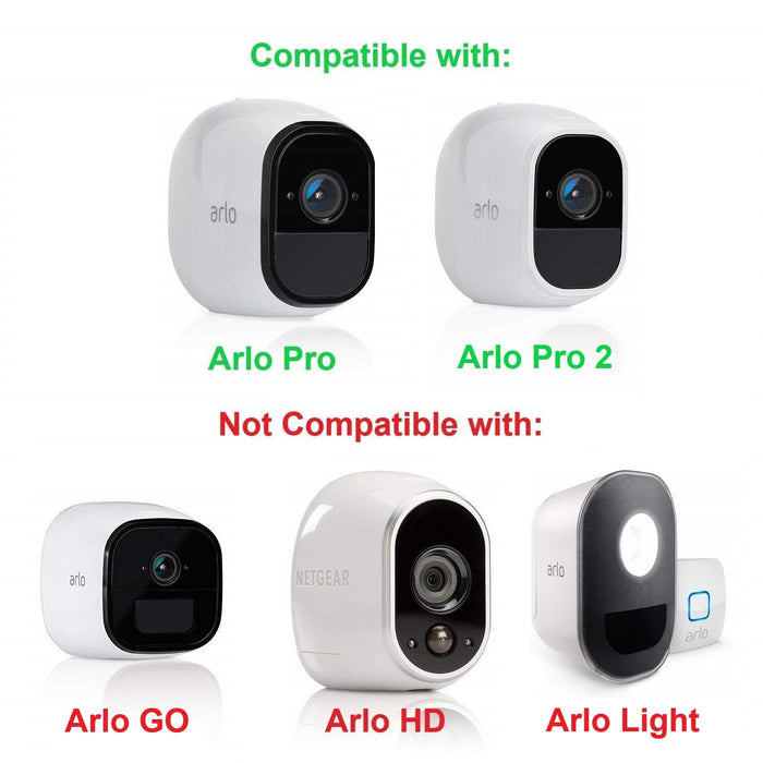 Wasserstein Anti-Theft Security Chain Compatible with Arlo Pro and Arlo Pro 2 (White, 1 Pack)