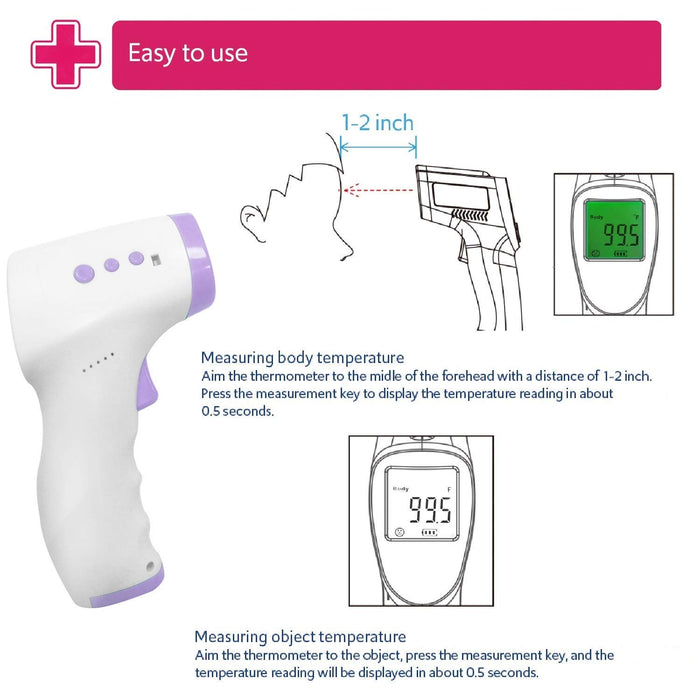Infrared Thermometer - ˚F/˚C Adjustable with Digital Display Monitor - Experience Contactless Temperature Measuring