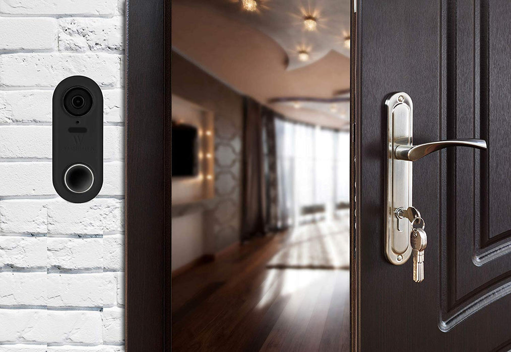 Wasserstein Protective Silicone Skin compatible with Nest Hello Video Doorbell (Black, 1 Pack)