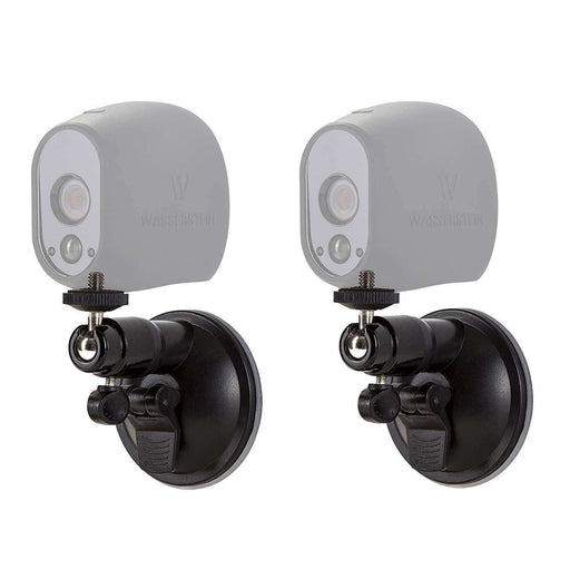 Smart Security Suction Cup Wall Mount- Adjustable Indoor/Outdoor Suction Cup Mount Compatible with Arlo Pro/Pro 2/Pro 3/Pro 4/Ultra/Ultra 2 (2 Pack)