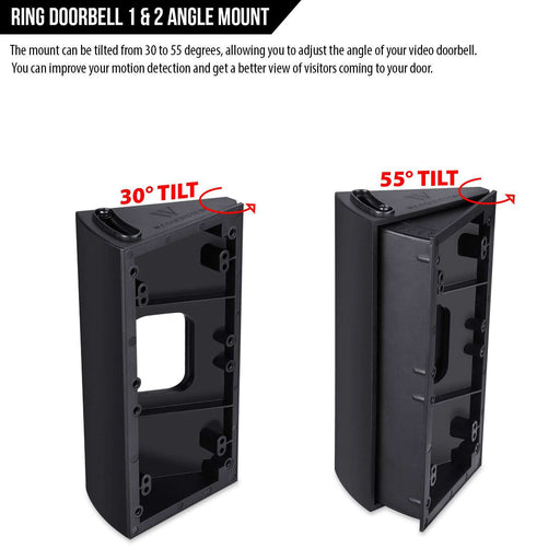 Adjustable Angle Mount compatible with Ring Video Doorbell & Ring Video Doorbells | Wasserstein Home