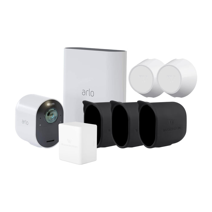 Arlo Ultra 1 Camera Kit with Battery, Magnet Mount and Skins Bundle