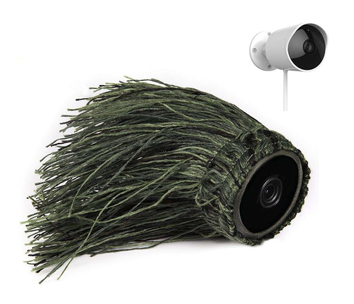 Ghillie Skin Compatible With YI Outdoor Security Camera | Wasserstein Home